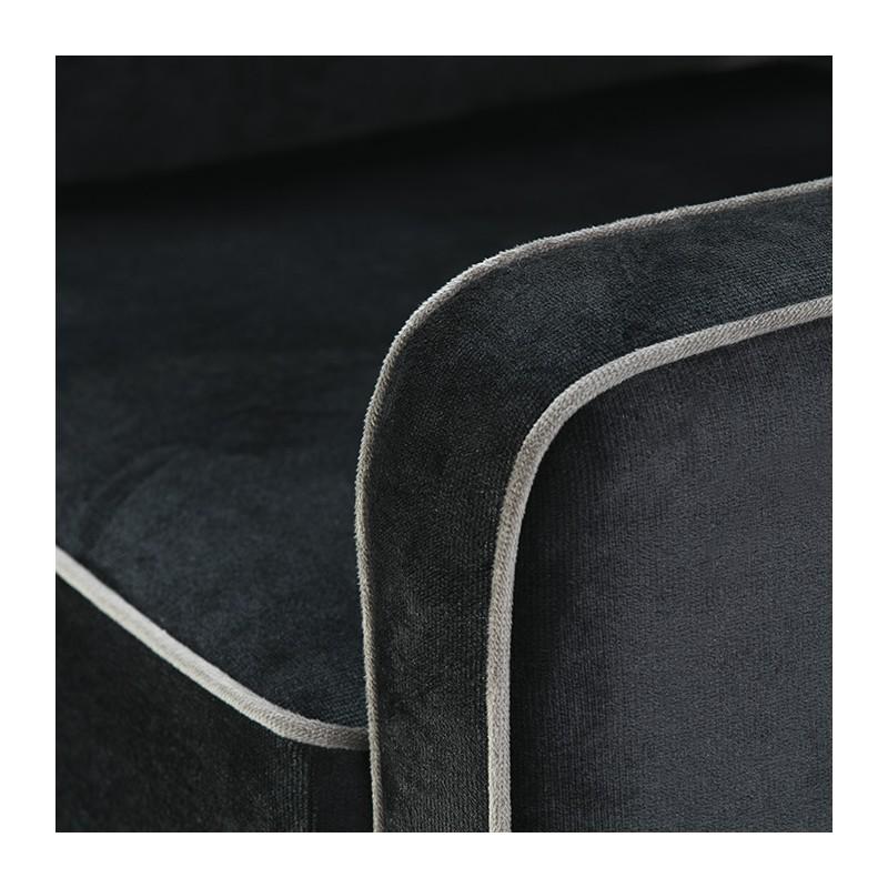 Fauteuil 86x91x88 tissu noir - image 51273