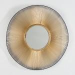 Specchio 75X4X75 Vetro Metallo Dorato Nero