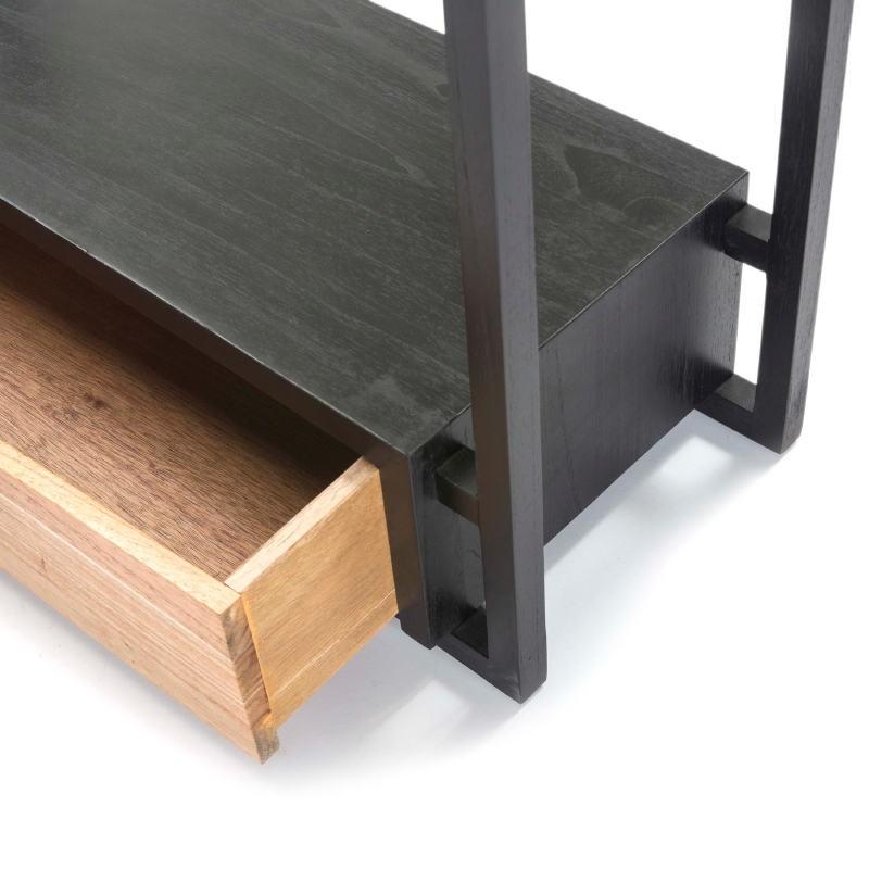 Clothes Rack Trouser Press 103X36X150 Wood Black Natural - image 51315