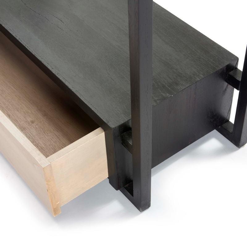 Kleiderständer / Hosenbügler 103X36X150 Holz Schwarz/Grau - image 51320