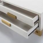 Tv Furniture 4 Drawers 161X45X45 Wood White Golden