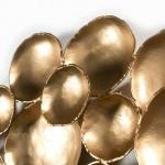 Escultura De Pared 121X10X70 Metal Dorado