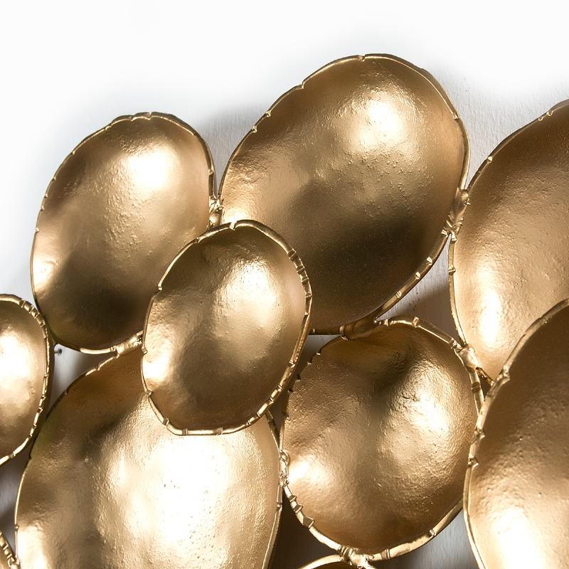 Wall Sculpture 121X10X70 Metal Golden - image 51418