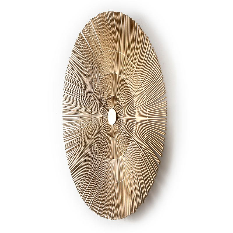 Wall Sculpture 81X8X81 Metal Golden - image 51420