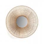 Mirror 79X10X79 Glass Metal Golden