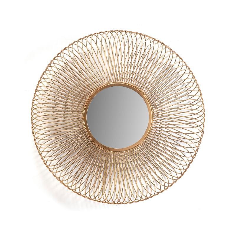 Mirror 79X10X79 Glass Metal Golden - image 51424