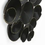 Escultura De Pared 101X9X71 Metal Negro Dorado