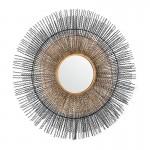 Miroir 96x9x96 Verre Métal Doré Noir