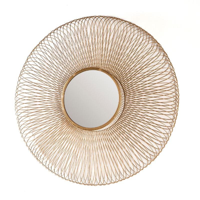 Spiegel 112X10X112 Glas/Metall Golden