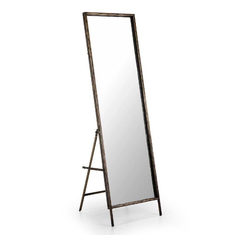 Miroir sur pied 50x7 68x170 Verre Métal Doré