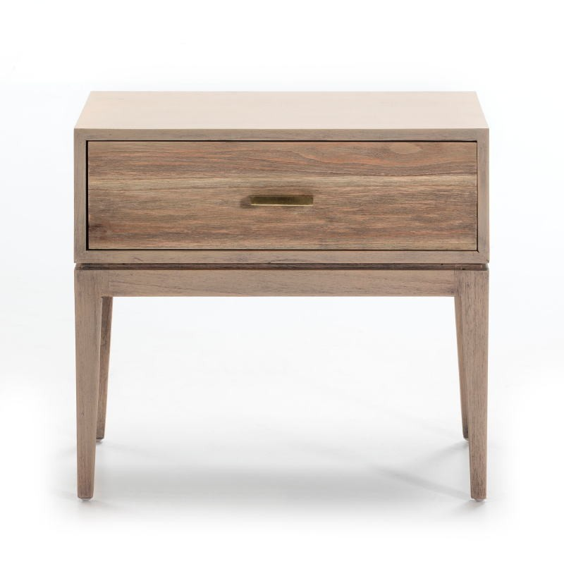 Bedside Table 1 Drawer 60X40X55 Wood Grey - image 51523