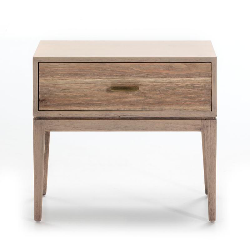 Nachttisch 1 Schublade 60X40X55 Holz Grau - image 51523