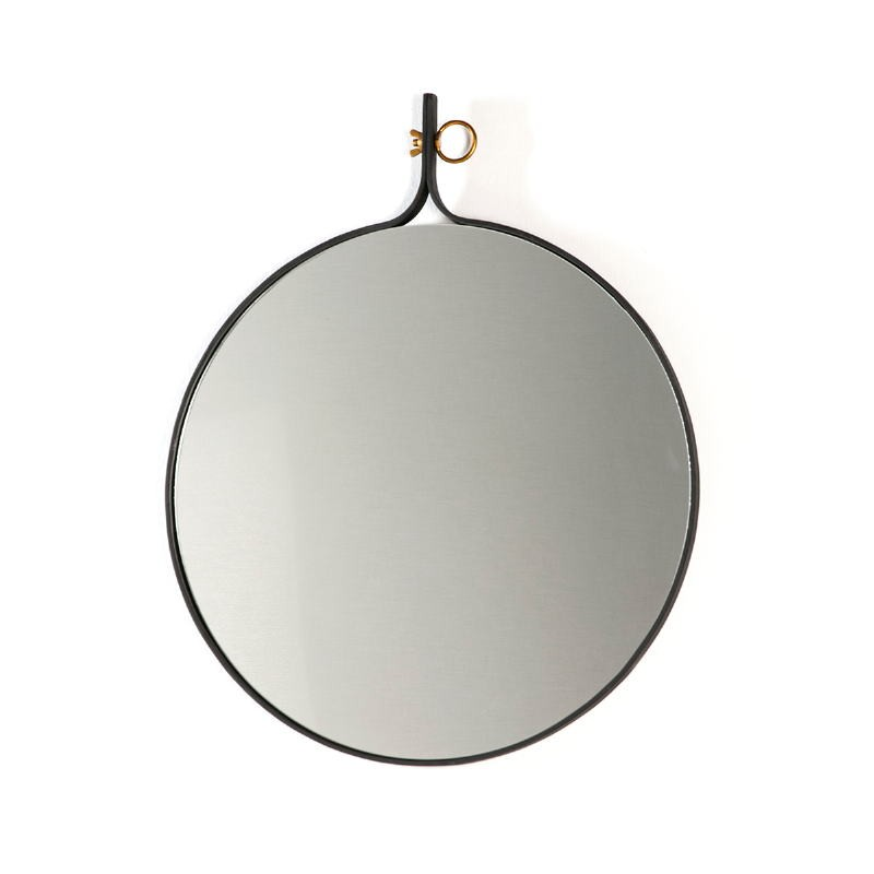 Miroir 61x3x75 Verre Métal Doré Noir