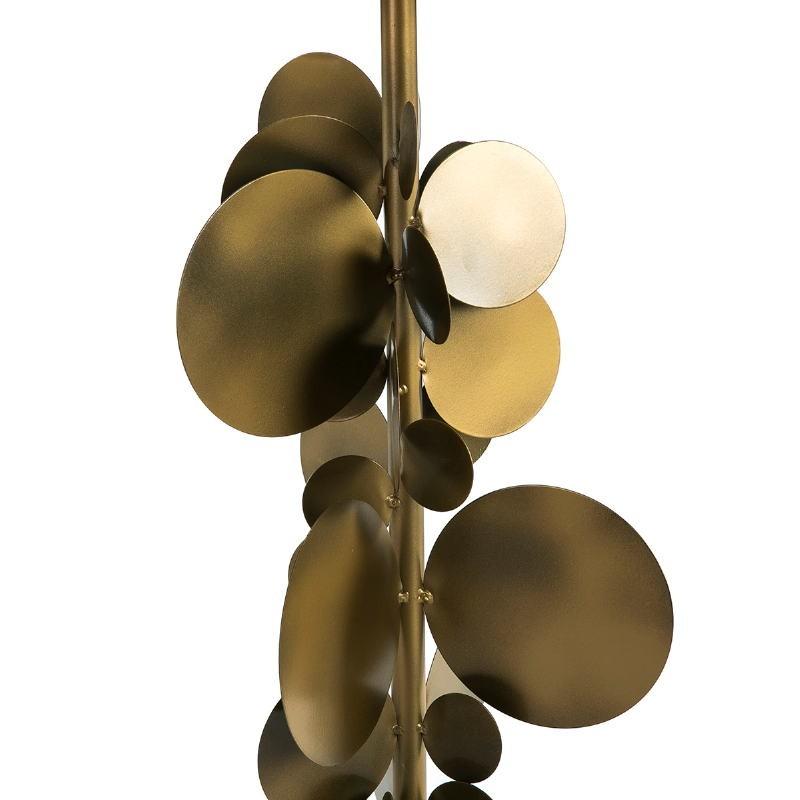 Lampada Da Tavolo Con Paralume 30X30X71 Metallo Dorato - image 51535