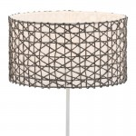 Lampshade 45X45X24 Synthetic Paper Grey