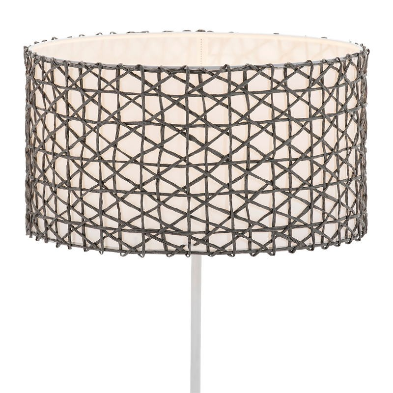 Lampshade 45X45X24 Synthetic Paper Grey - image 51540