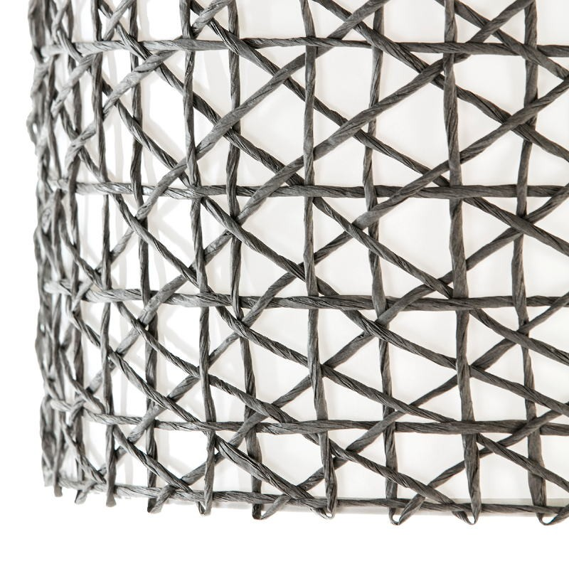 Lampshade 45X45X24 Synthetic Paper Grey - image 51541