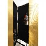 Bar Möbel 91X56X152 Holz Golden/Schwarz/Metall Schwarz