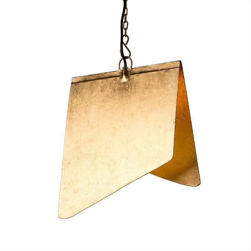 Lampada A Sospensione 40X35X15 Metallo Dorato