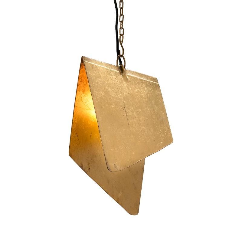 Lampe suspendue 40x35x15 Métal Doré - image 51573