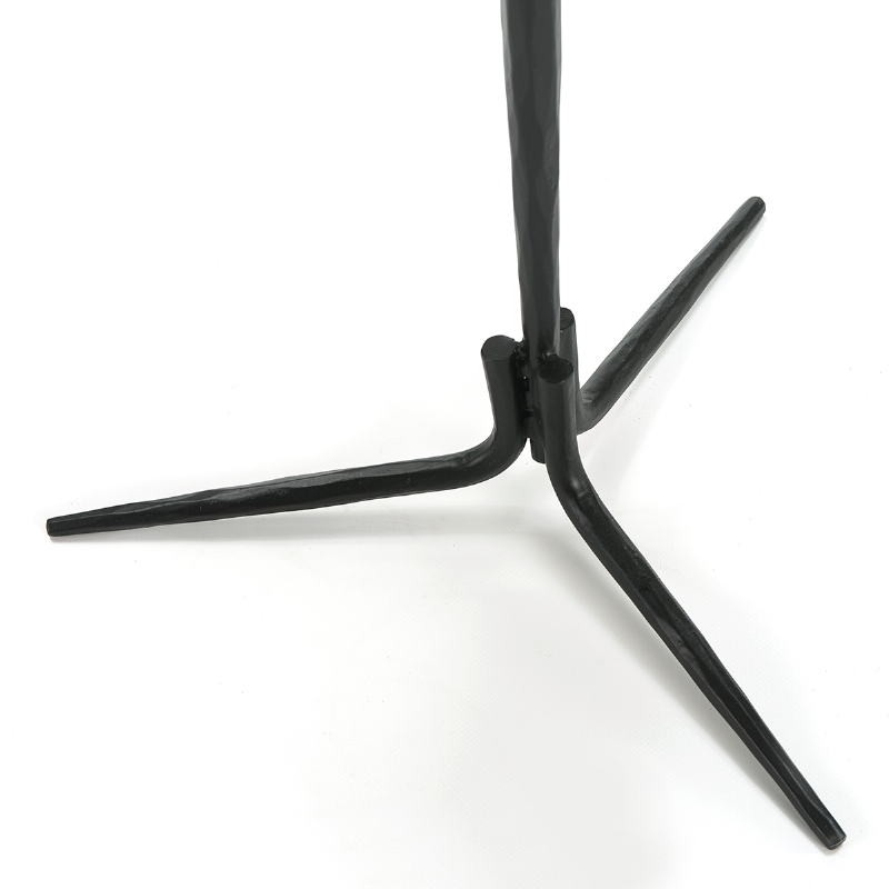 Side Table 46X46X58 Marble White Metal Black - image 51594