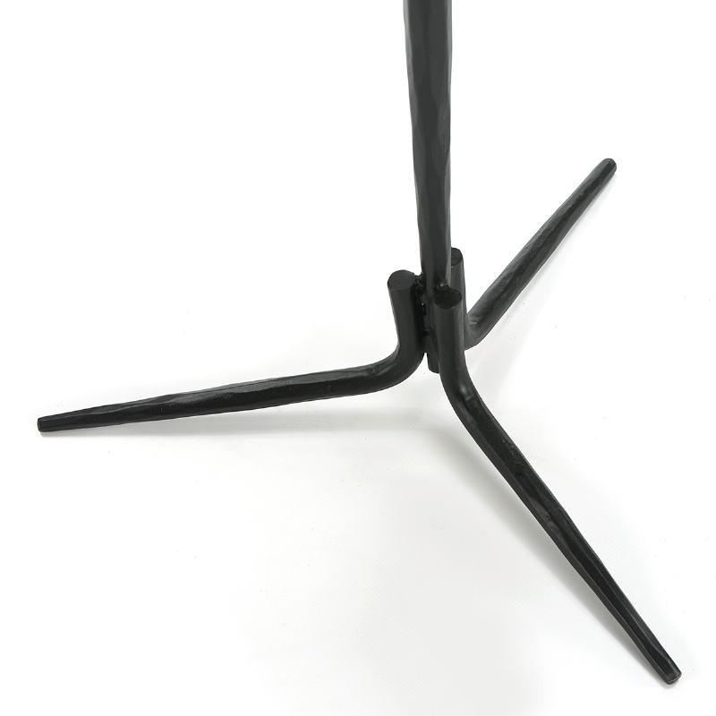 Table d'appoint, bout de canapé, bout de canapé 46x46x58 Marbre Blanc Métal Noir - image 51594