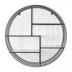 Shelf 91X23X91 Glass Metal Black