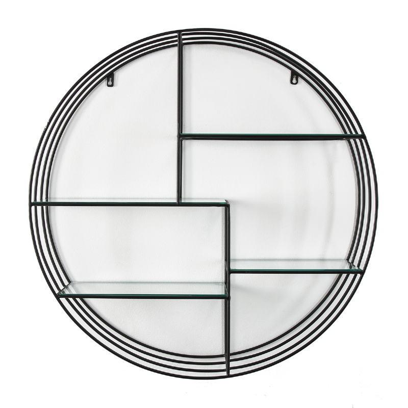 Shelf 91X23X91 Glass Metal Black - image 51598
