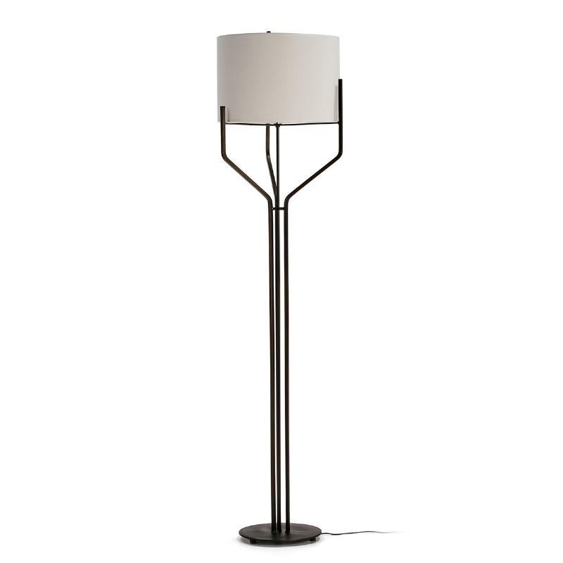Lampada A Stelo Con Paralume 28X28X165 Metallo Marrone Scuro - image 51606
