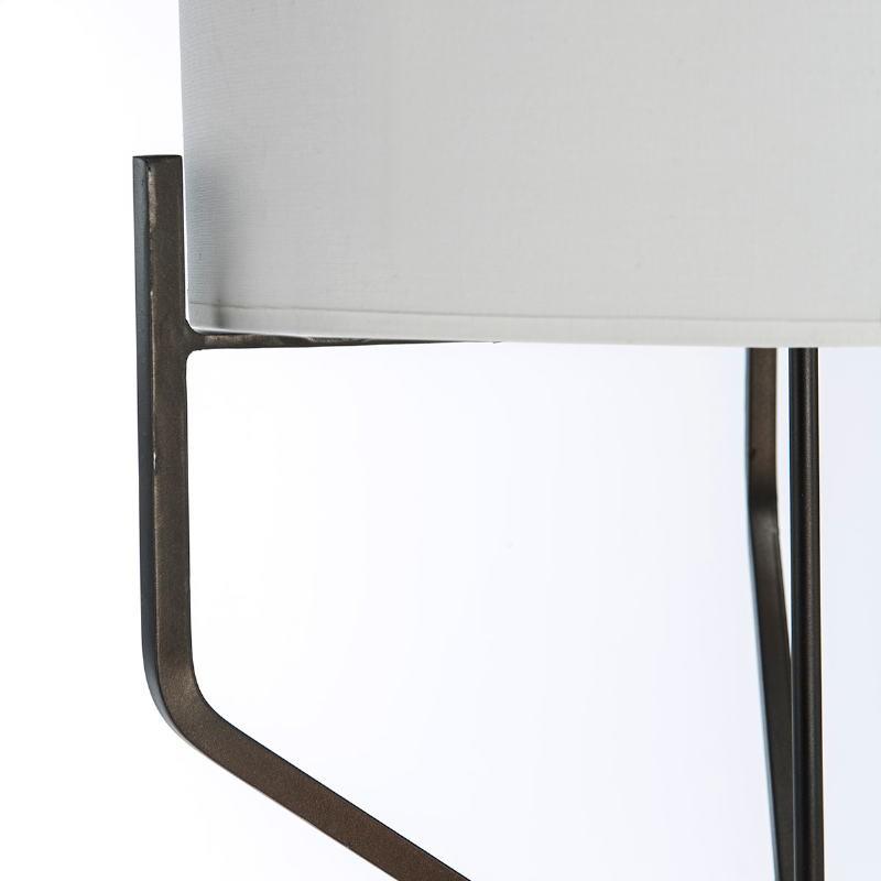 Lampada A Stelo Con Paralume 28X28X165 Metallo Marrone Scuro - image 51608