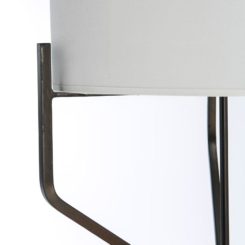 Standard Lamp With Lampshade 28X28X165 Metal Dark Brown - image 51608