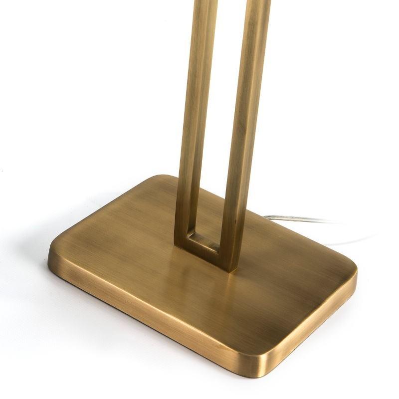 Lampe de Table avec abat-jour 24x15x55 Métal Doré - image 51638