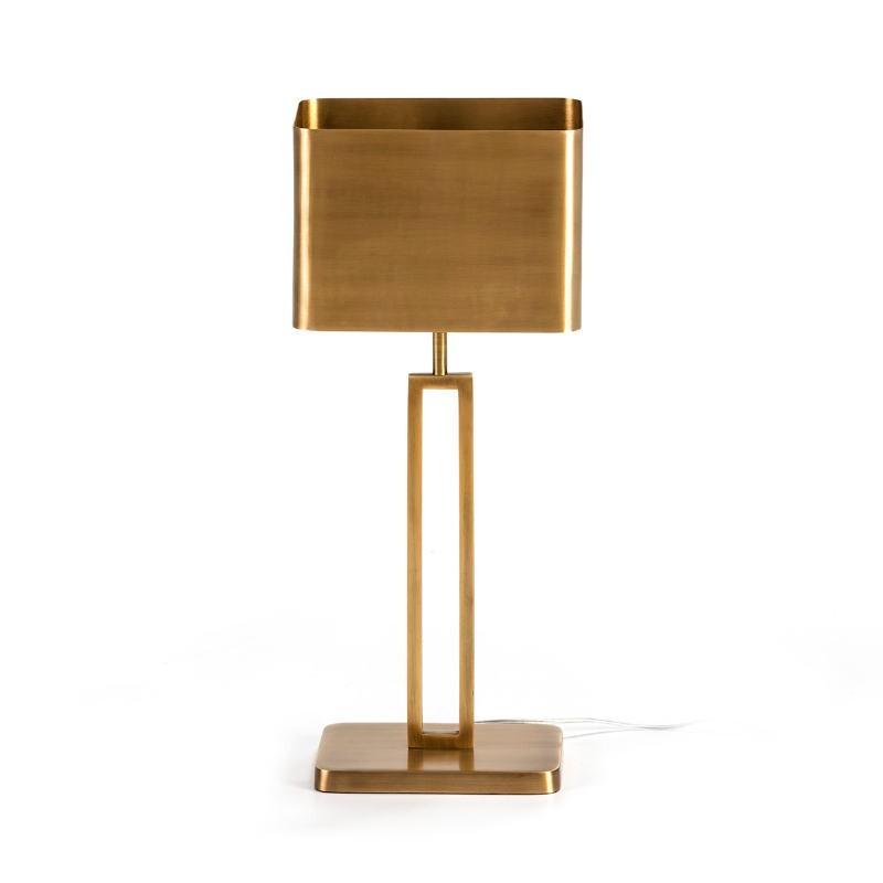 Lampe de Table avec abat-jour 24x15x55 Métal Doré - image 51639