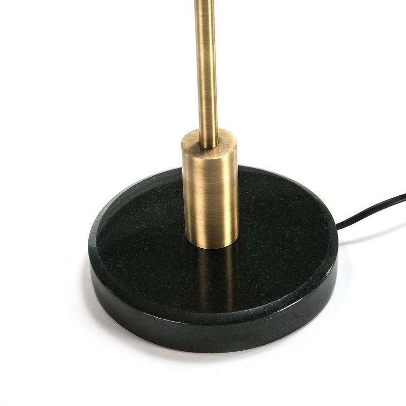 Lampe de Table 18x44x53 Marbre Noir Métal Noir Doré - image 51641