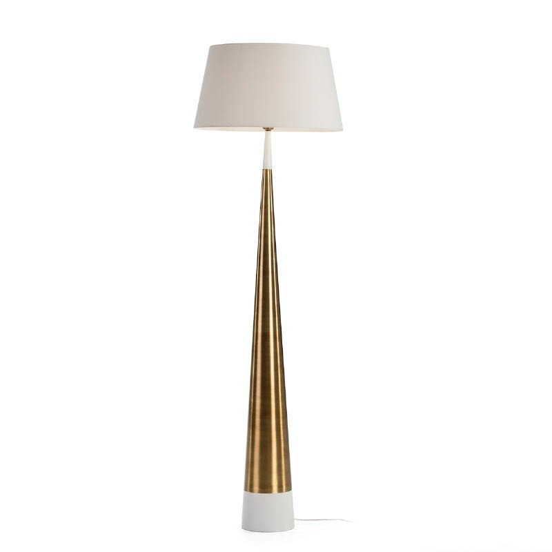Standard Lamp Without Lampshade 18X18X140 Metal White Golden