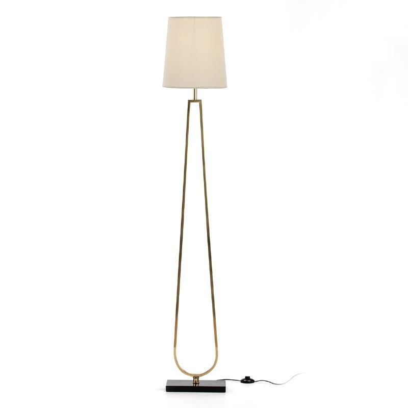 Standard Lamp Without Lampshade 28X16X151 Metal Golden Stone Black