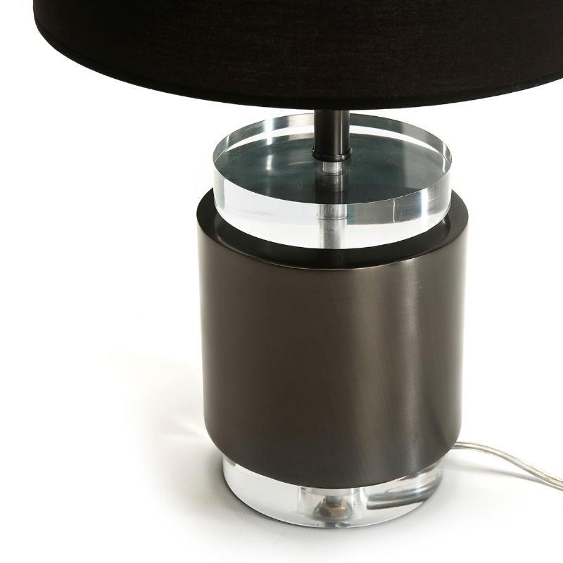 Lampe de Table sans abat-jour 14x14x33 Acrylique Métal Noir - image 51674
