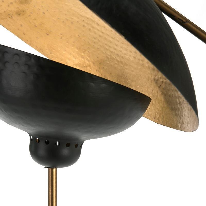 Lampara De Pie 88X70X168 Metal Dorado Negro - image 51696