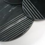 Skulptur 56X4X56 Marmor Schwarz