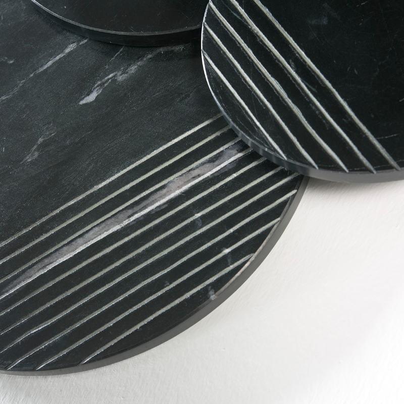 Skulptur 56X4X56 Marmor Schwarz - image 51704