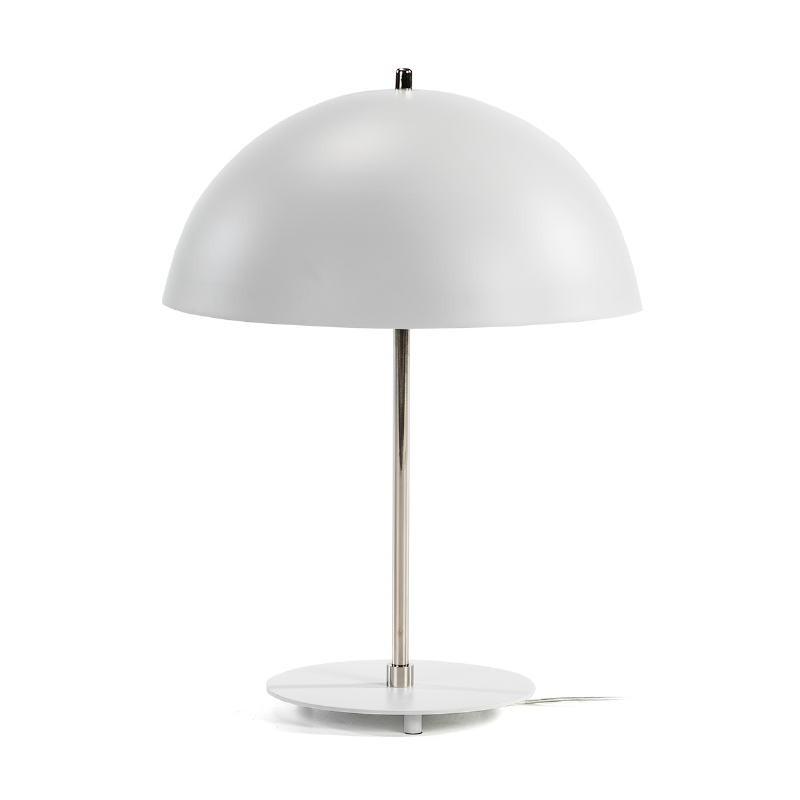 Lampe de Table 43x43x56 Métal Blanc Nickel