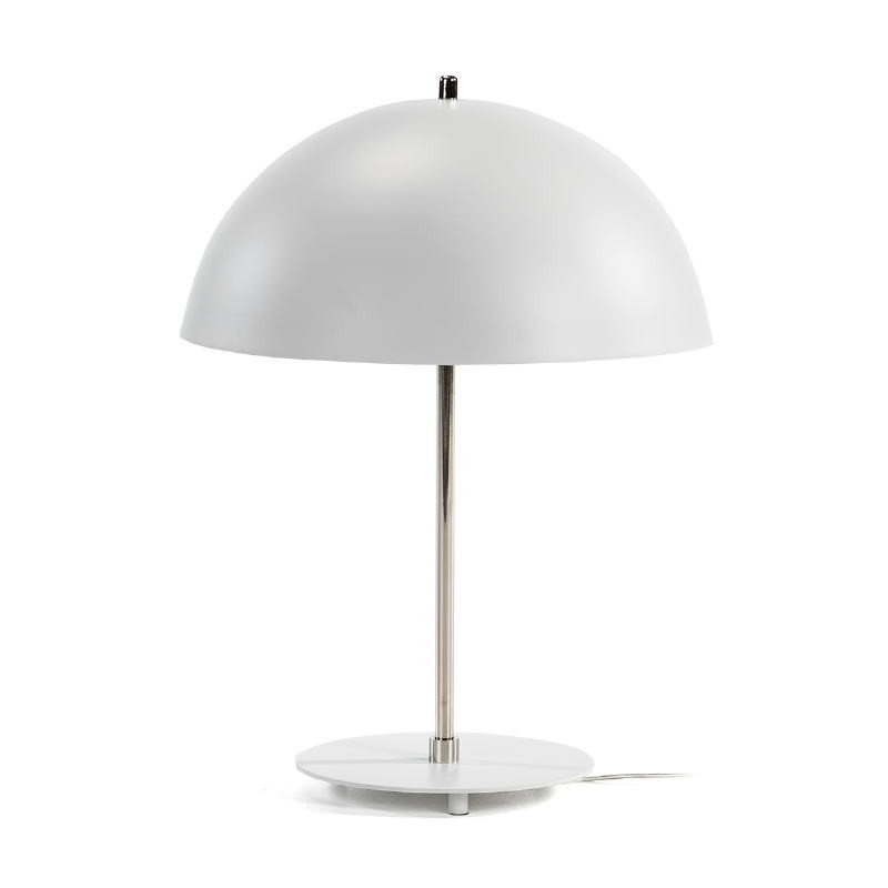 Tischlampe 43X43X56 Metall Weiß/Nickel - image 51714