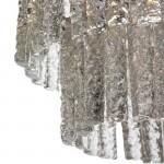 Hängelampe 39X39X29 Glas/Metall Silber