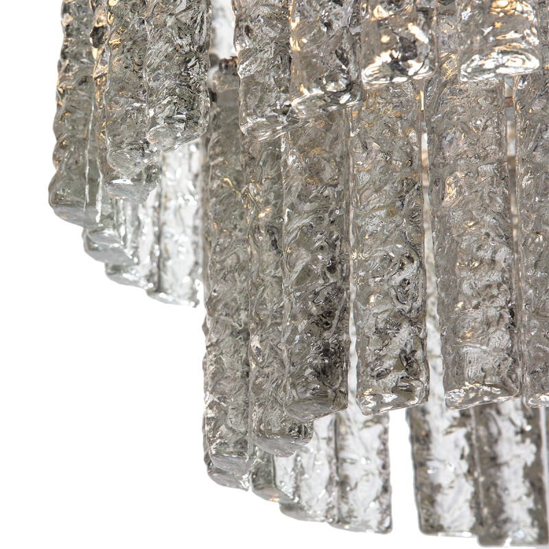 Lampara De Techo 39X39X29 Cristal Metal Plateado - image 51718