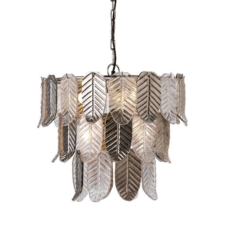 Hanging Lamp 46X46X43 Glass Metal Silver