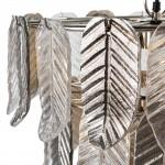 Lampara De Techo 46X46X43 Cristal Metal Plateado