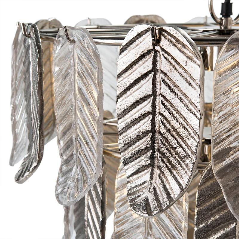 Lampara De Techo 46X46X43 Cristal Metal Plateado - image 51723