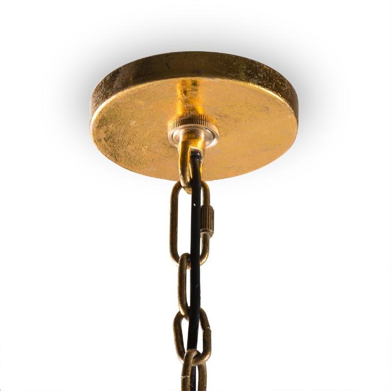 Lampada A Sospensione 46X46X40 Metallo Dorato Marmo Bianco - image 51728