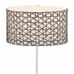 Lampshade 40X40X22 Synthetic Paper Grey