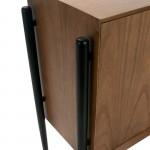 Sideboard 4 Doors 180X45X90 Wood Brown Black